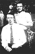 H.Шмидт (сидит слева) и М.Смирнов
