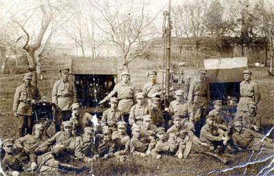 После развертывания радиостанции «АЛМ», 1923 г.