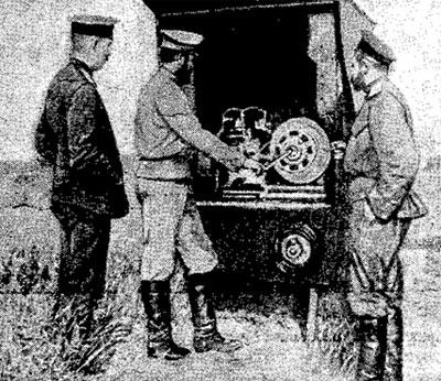 Полевая радиостанция образца 1905 года.