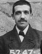 Чарльз Понзи (фото при аресте), 1920 г.