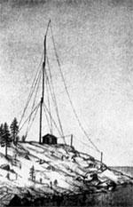 Антенны искровых передатчиков на острове Гогланд