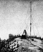 Антенны искровых передатчиков на острове Кутсала