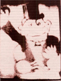 Первое телевизионное изображение, переданное А.А. Расплетиным с самолета на землю. 1940—1941 гг.