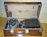 Портативная искровая радиостанция РОБТиТ образца 1914 года