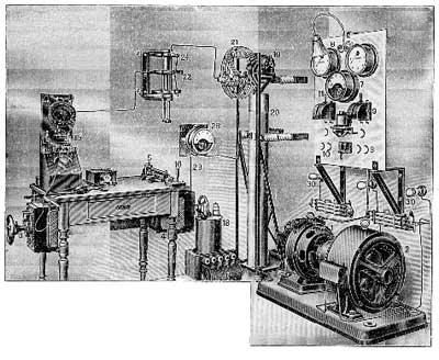 Общий вид искровой стационарной радиостанции РОБТиТ