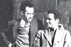 Дж. Барр и А. Сарант в Нью-Йорке, 1944 год
