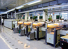 Линия поверхностного монтажа электронных модулей Siemens