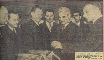 The President of the USSR Academy of Sciences Testing (1961–1975) Mstislav Keldysh visiting Vilnius Computer Factory